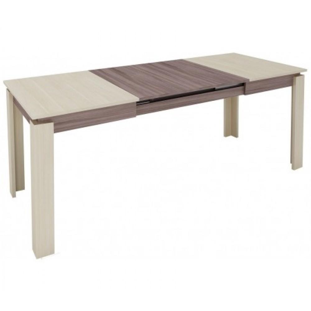 Стол обеденный Орфей 16 дуб венге/зембрано глянец