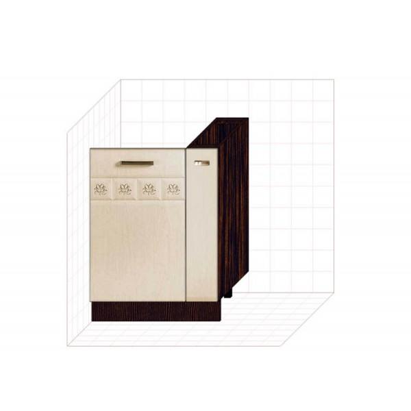 Панель для посудомоечной машины на 450 с бутылочницей на 150(без столешницы) 10.68.1