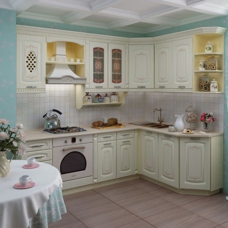 Кухня 2,4*1,7 метра Глория 3 Набор 3