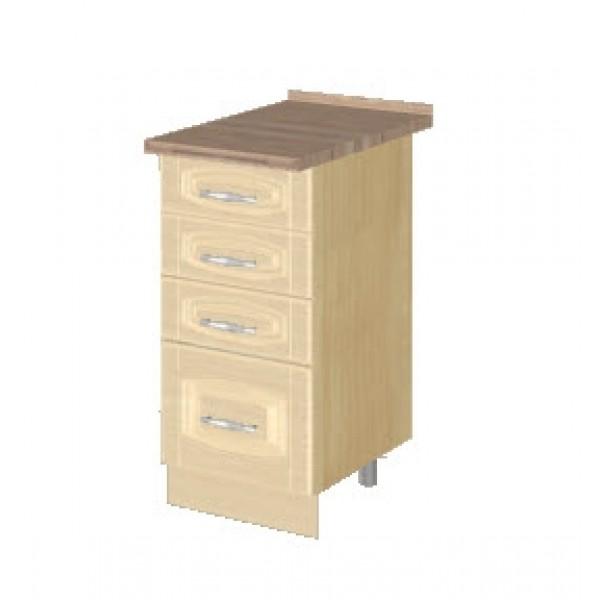 Стол с 4 ящиками (без столешницы) 03.56.2