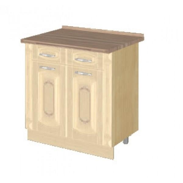 Стол с 2 ящиками с колоннами (без столешницы) 03.63.2