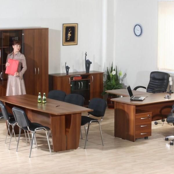 Кабинет руководителя с переговорной зоной Набор 1 орех Пегас