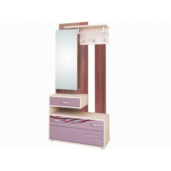 Панель с крючками и зеркалом комбинированная 38.06